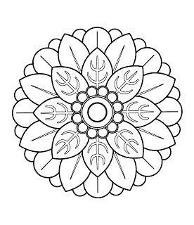 Mandalas Para Pintar: Mandala chino III