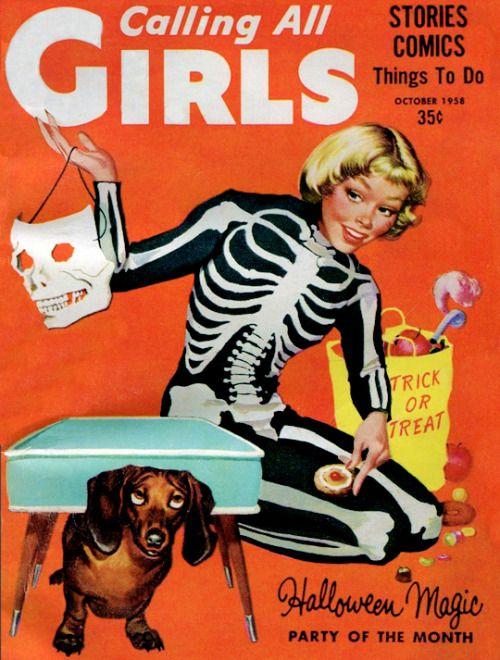 gravesandghouls:  Calling All Girls Magazine, October,1958