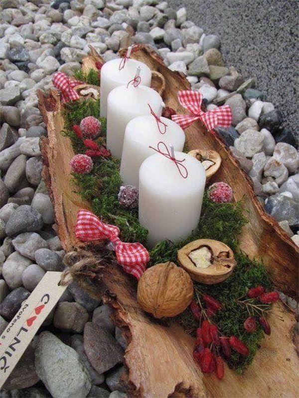 15 fabelhafte Weihnachtskerzen-Dekoration-Ideen, zum Ihres Feiertags zu erfreuen