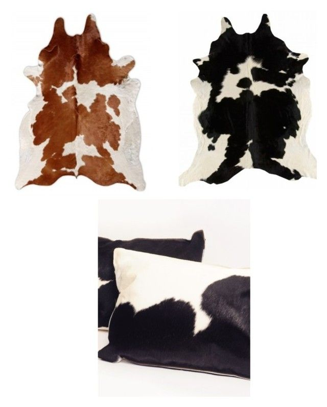 """Cowhides Rugs for Sale"" by zapprix on Polyvore featuring interior, interiors, interior design, home, home decor and interior decorating"