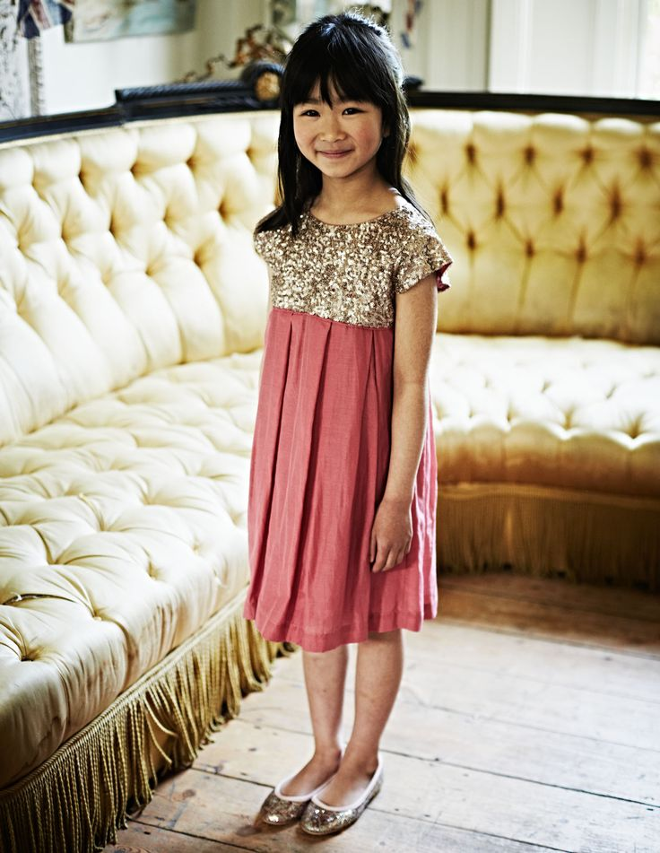 Shimmer in this sequin dress. #miniboden