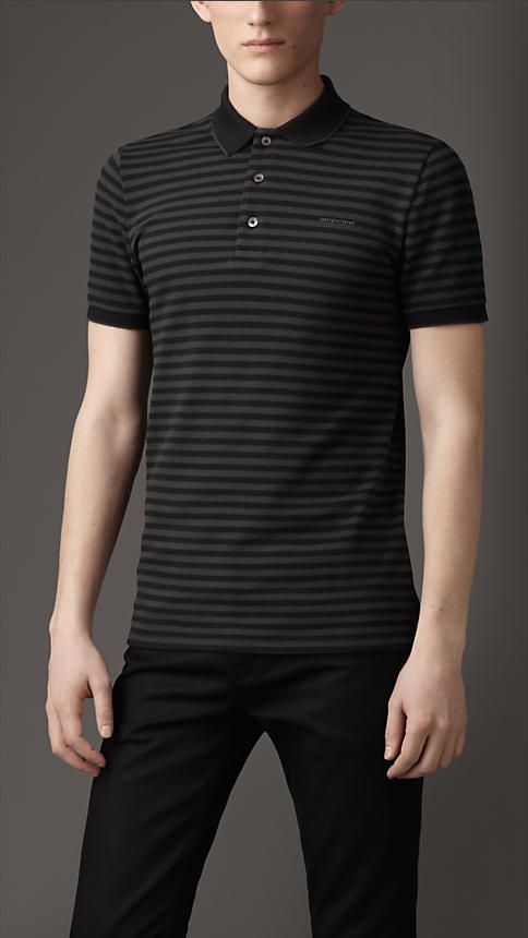 Striped Polo Shirt by Burberry