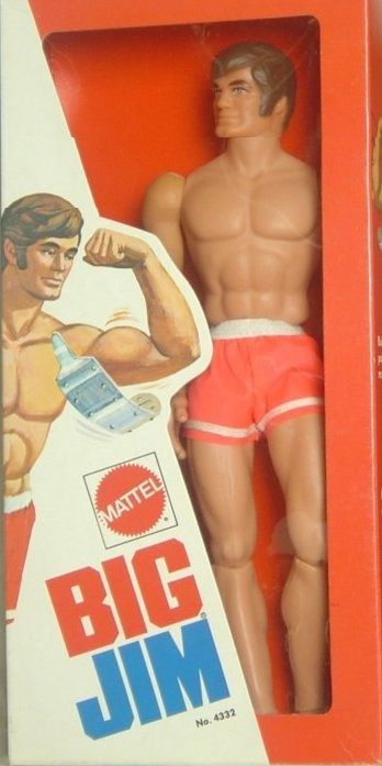 Big Jim illustration shows how bending his arm made his bicep grow. He was my Dawn dolls beau ha