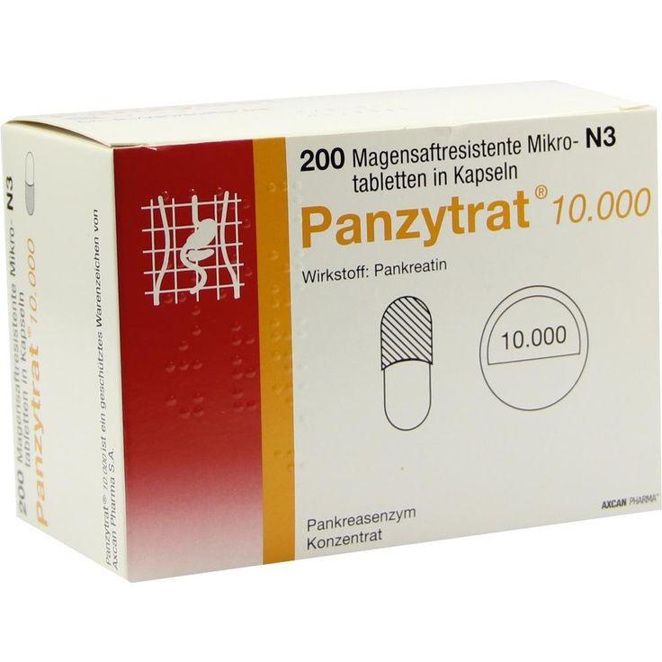 PANZYTRAT 10.000 Kapseln:   Packungsinhalt: 200 St Kapseln PZN: 04893093 Hersteller: ALLERGAN PHARMACEUTICALS INTERNATIONAL LIMITED…