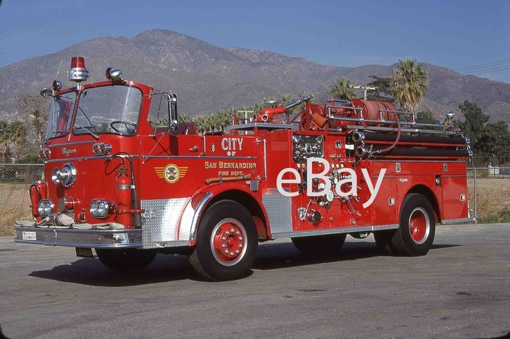Fire Truck Photo San Bernardino Open Cab Seagrave KB Engine Apparatus Madderom