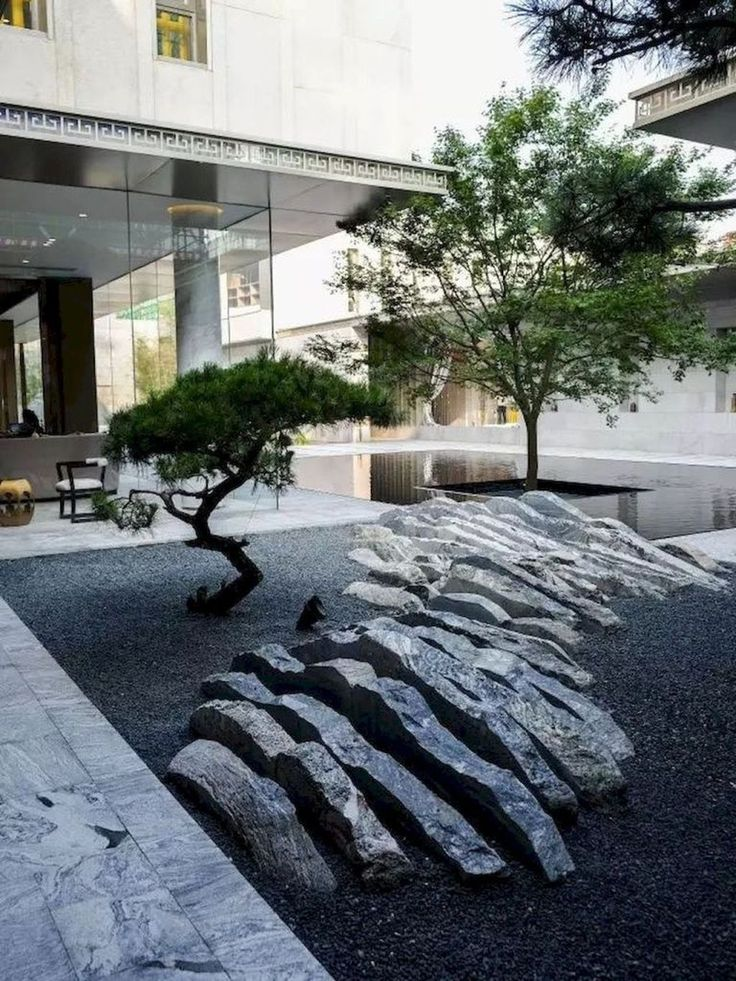 Cool 39 Stunning Front Yard Rock Garden Landscaping Design Ideas To Have Right Now. #