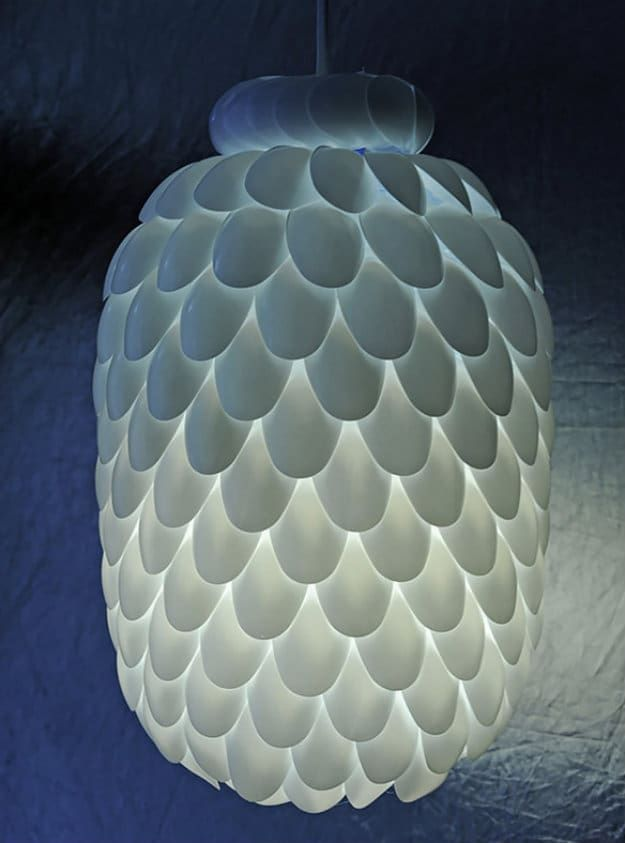 diy plastic spoon lamp if youre looking for the perfect mood lighting project - Recycled Halloween Decorations