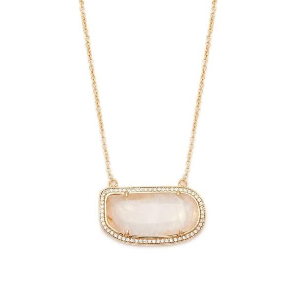 Stone Slice Necklace-Moonstone – MELANIE AULD JEWELRY