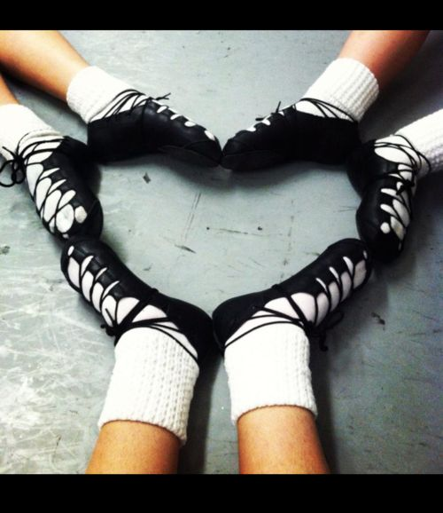 The love of Irish dance . . . Julie, Anna, and I will have to do this next teams class. Must show Bridgid!