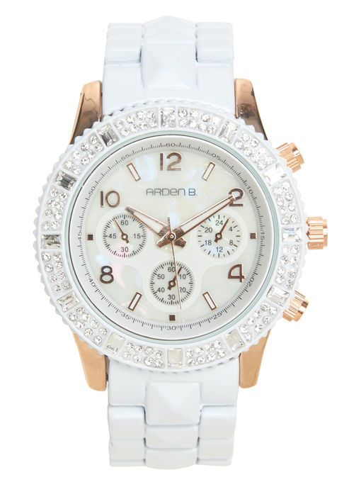 Pyramid Stud & Rhinestone Watch