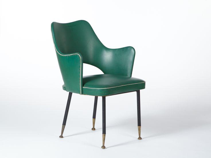 Poltroncina verde anni '50