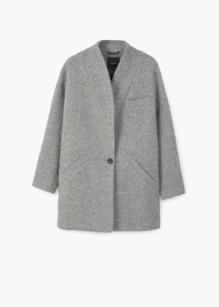Abrigo cocoon lana | MANGO