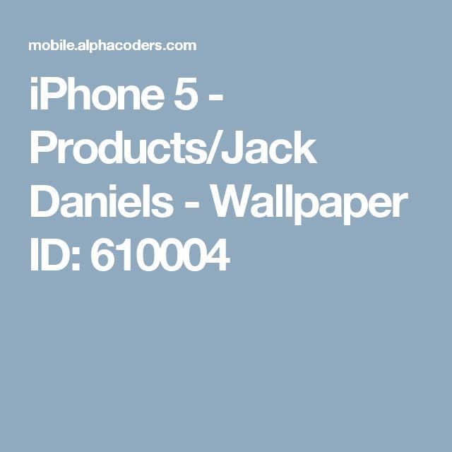 iPhone 5 - Products/Jack Daniels - Wallpaper ID: 610004