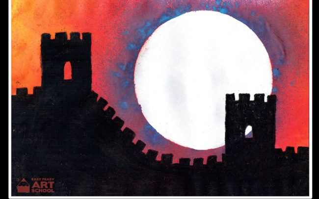 Great Wall Of China Art Lesson By Easy Peasy Art School Online
