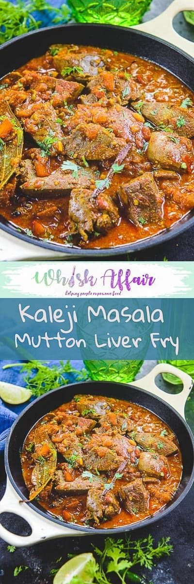 Kaleji Masala or Mutton Liver Masala is adry preparation that can be enjoyed as an appetizer, with rotis or kerala parotta and even plain white rice.#Mutton #Lamb #Liver  via @WhiskAffair