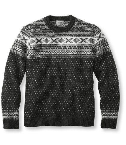 Norwegian Sweater, Crew Pattern: Crewnecks | Free Shipping at L.L.Bean
