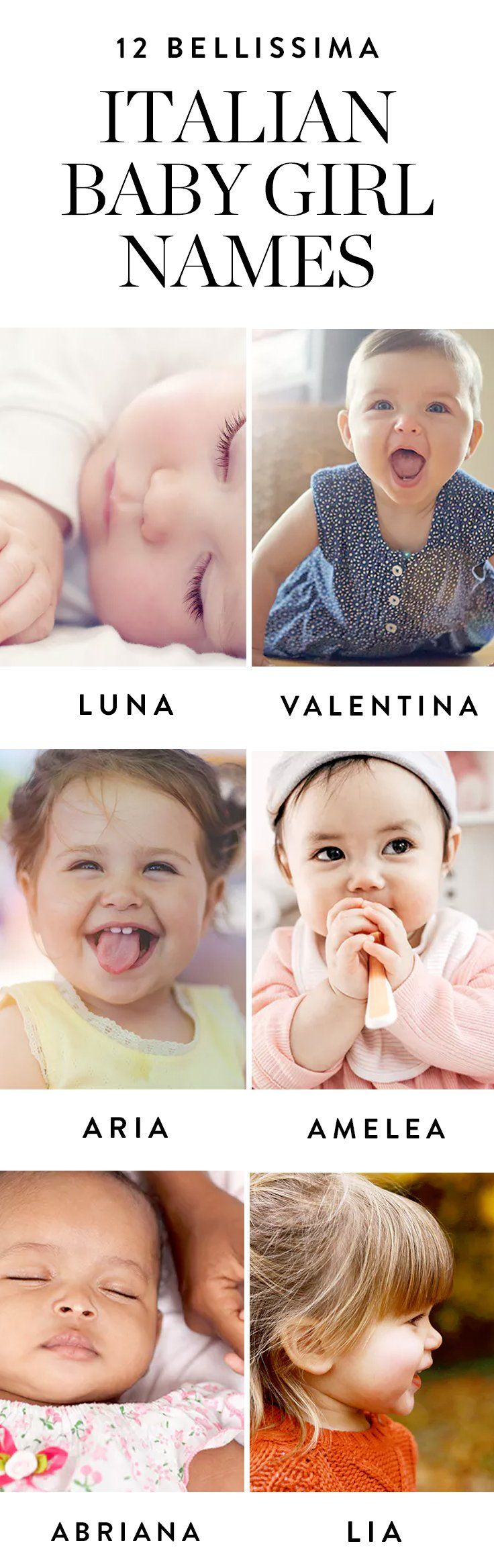 Here are 12 bellissima Italian baby names for little girls.