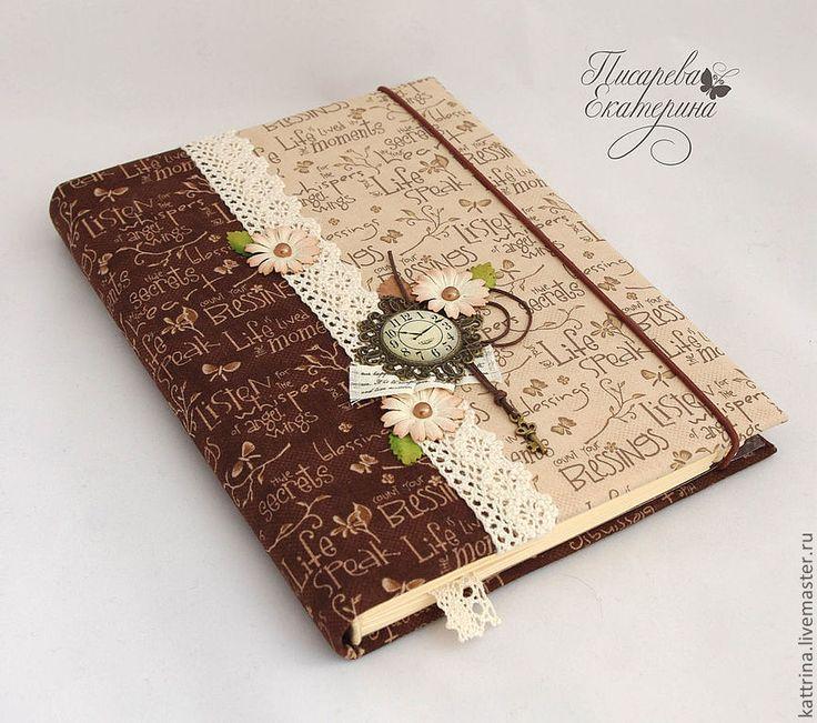 """Купить Блокнот """"Винтаж"""" - бежевый, блокнот ручной работы, блокнот, ежедневник, Париж"""