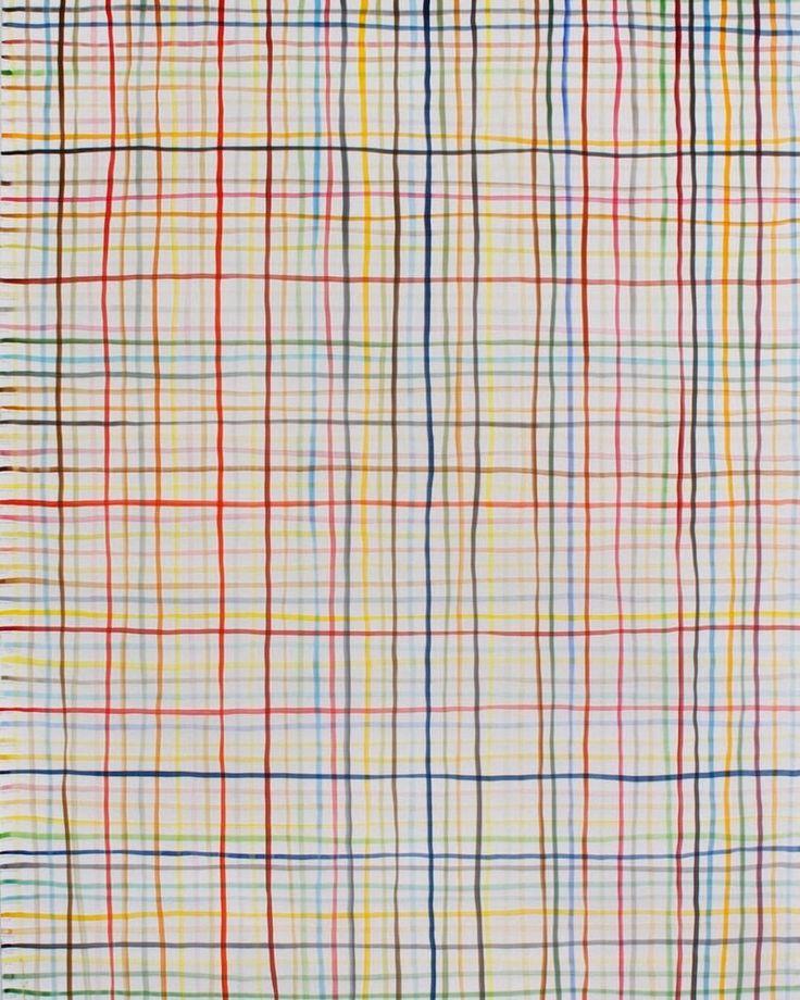 peinture abstraite, dessin US : Spencer Finch, 2012, lignes, quadrillage, 2010s