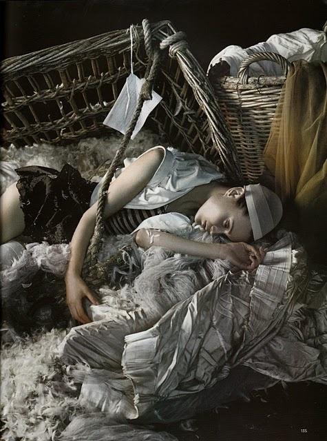 Freja Beha Erichsen photographed for Vogue by Javier Vallhonrat.