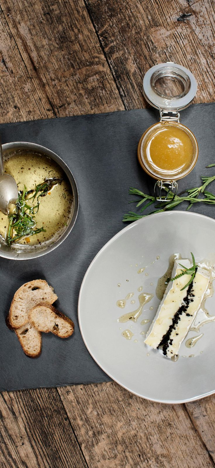 Let the unique, earthy flavor of black truffles mingle with savory Président Brie and sweet lavender honey in this perfect starter.