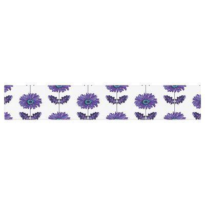 "East Urban Home Laura Escalante Gerbera Flower Table Runner Size: 0.25"" H x 90"" W x 16"" D, Color: Purple"