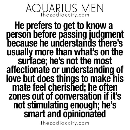 What you need to know about Aquarius men. For more zodiac fun facts, click here.