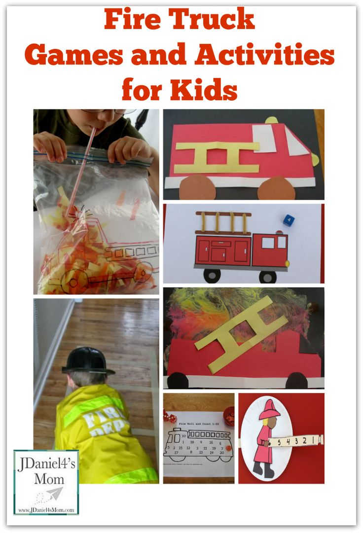 Fire Truck Games and Activities for Kids - perfect for community workers unit or as a follow up activities for books about fire trucks / firemen