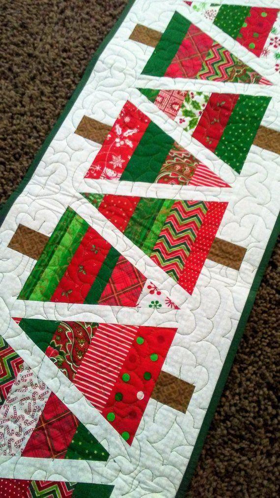 Christmas Tree Table Runner Pattern Free : christmas, table, runner, pattern, Christmas, Runner, Quilted, Table, Runners, Christmas,, Pattern,, Quilts