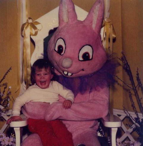 The Creepiest Easter Bunny Photos Ever Taken | Happy Place- why I would never do the bunny thing to my kids...