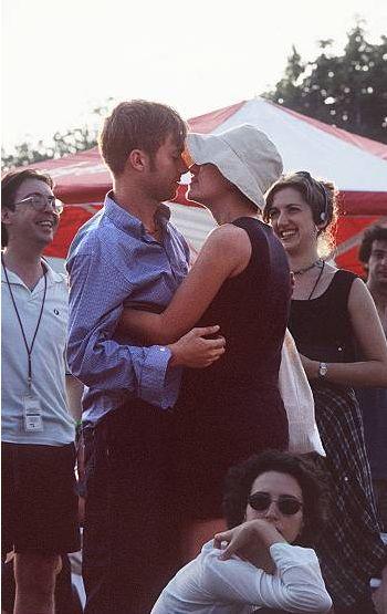 Justine Frischmann with Damon Albarn