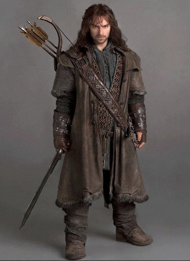 Aidan Turner as Kili in photo from Brian Sibley's Official Movie Guide for The Hobbit: An Unexpected Journey