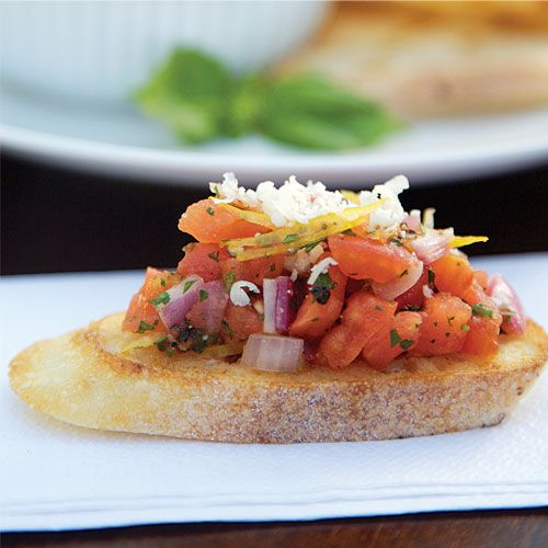 Fire Roasted Tomato and Onion Bruchetta. #bbq #bruschetta #napoleongrill