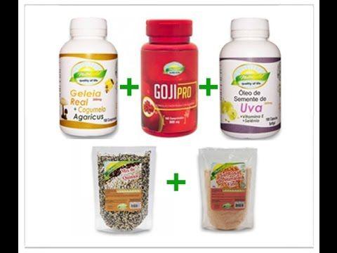 ✓ Kit saúde anti-envelhecimento Geleia Real Goji Berry Semente Uva Quinu...