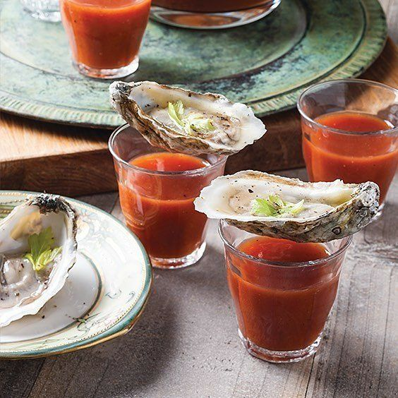 These are our kind of shorts. #blacksouthernbelle  Image by  @louisianacookin  If you love raw #oysters you're going to love these zesty Bloody Mary Oyster Shooters. Recipe link in profile!