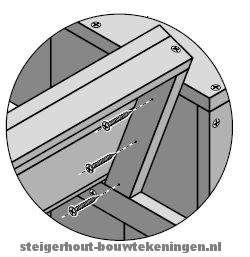 Steigerhout tuinstoel en #tuinbank XL bouwen - monteer als laatste de rugleuning.