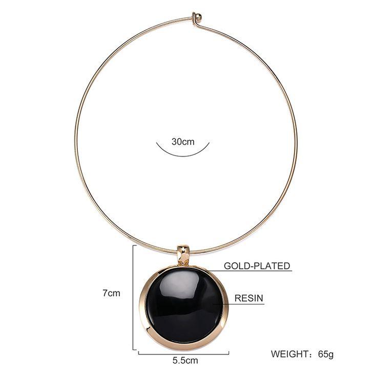 Брайтон золото с покрытием из черной смолы высокого качества ожерелье N6-8984A-3500