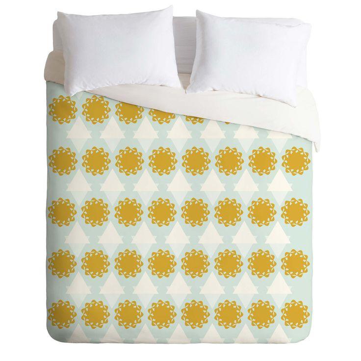 Hello Twiggs Summer Cream Duvet Cover | DENY Designs Home Accessories