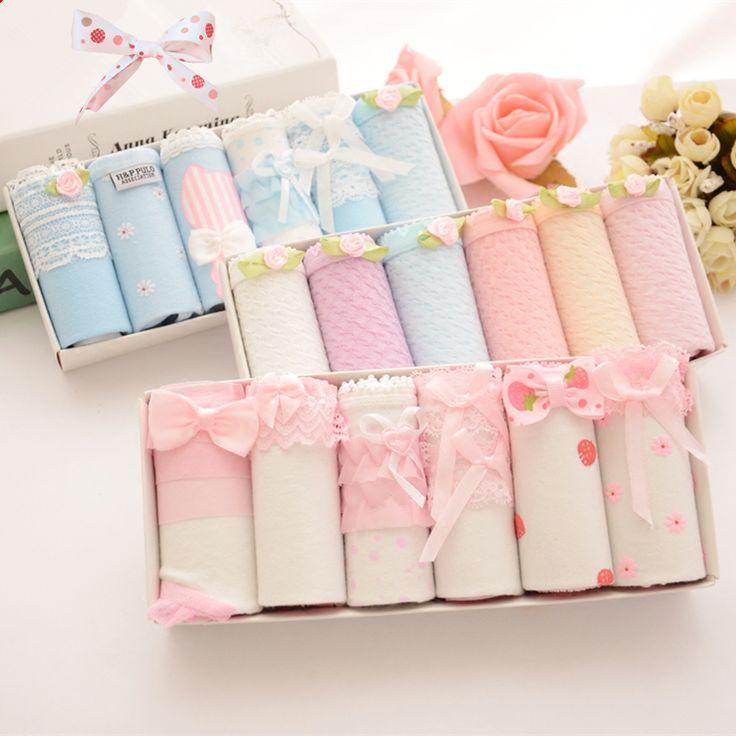 Cute kawaii students bowknot briefs gift box SE10251