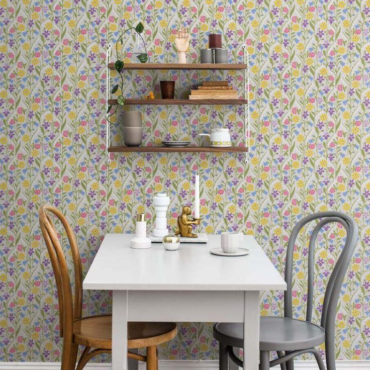 wallpaper Juniflora, design Lillo Wikstrand