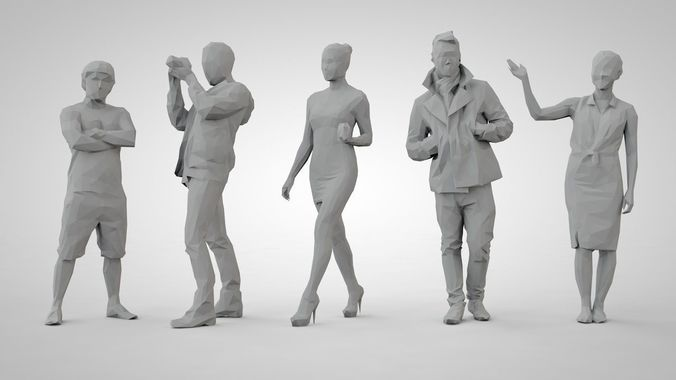 set of low poly people 13 | 3D Model