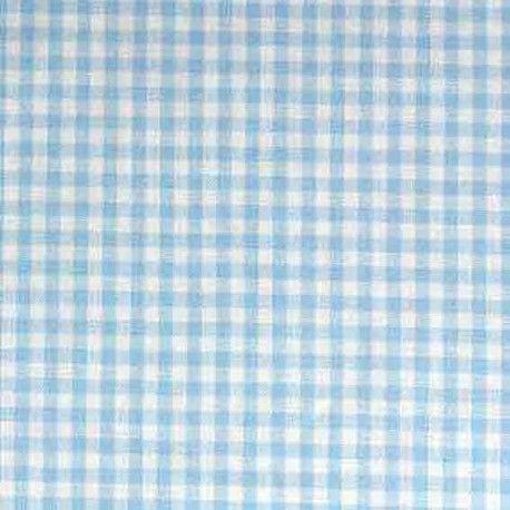 Tissu Vichy petits carreaux ciel x 10cm - Ma Petite Mercerie