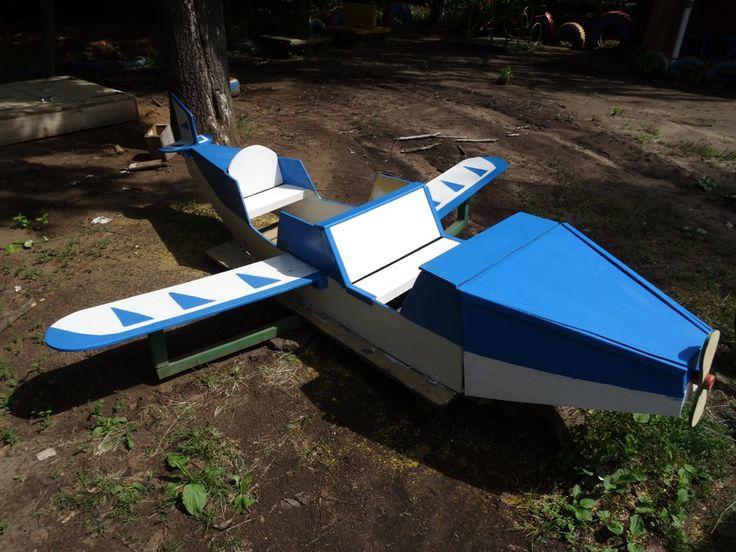Самолет для детской площадки от Izhevskie derevyashki