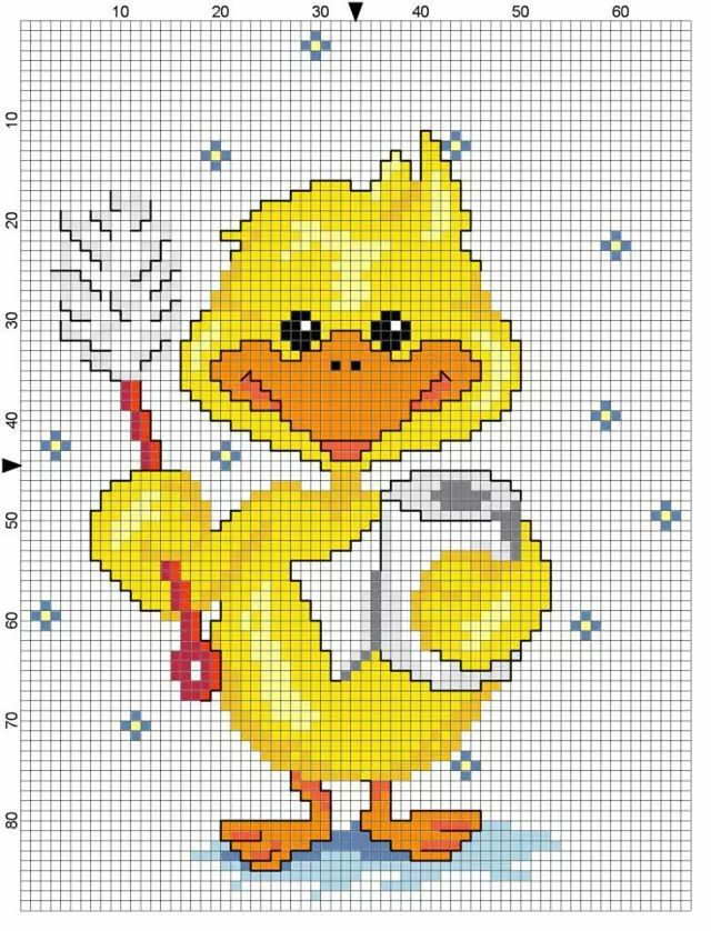 Ducky bathroom perler bead pattern