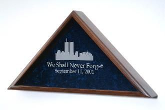 World Trade Center Flag Case  911 Memorial Display Case with Flag