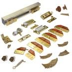 Johnson Hardware 100FD Series 48 in. Track and Hardware Set for 4-Panel Bi-Fold Doors