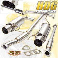 "1998-2002 Honda Accord V6 Coupe Sedan 2.5"" Catback Dual Exhaust System +Silencer"