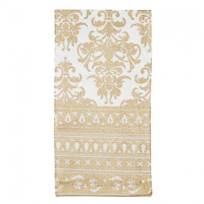 Bring some elegance to your Christmas dining table with a set of gold Harman Christmas Metallic Baroque Cotton Napkins. These napkins offer design versatility with their stunning color and sophisticated touch.    Whether you're looking for stocking stuffers, Secret Santa presents, festive Christmas decor or even gift cards, we have a huge selection of unique holiday stuff to make your days and nights merry and bright.