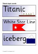Titanic topic word cards: Titanic United, Words Cards, Cards Sb4593, Topic Words, Titanic Topic, Cards Santa, Gingerbread, Titanic Projects