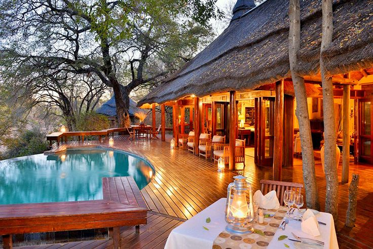 Imbali Safari Lodge Game reserve & bush lodge accommodation in Skukuza - Kruger Park Sheltered in a riverine forest overlooking the seasonal Nwaswitsontso river, Imbali is built on the site of a 400-year-old African settlement that has yielded such evidence of an ancient culture as clay pots, bone tools and grinding stones.